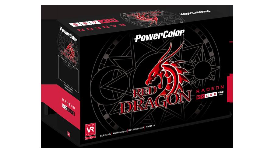Powercolor radeon rx 480 red dragon single fan