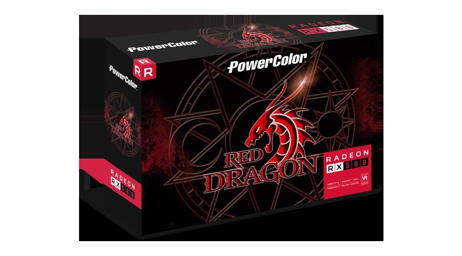 PowerColor AXRX 580 4GBD5-3DHDV2//OC AMD Radeon RX 580 4GB Red Dragon V2 GPU